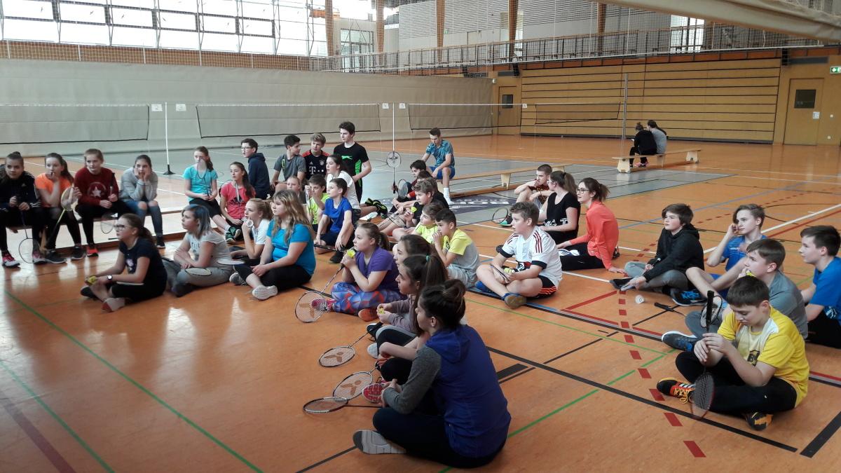 Badminton – Turnier am Gymnasium Gleichense im Februar 2018