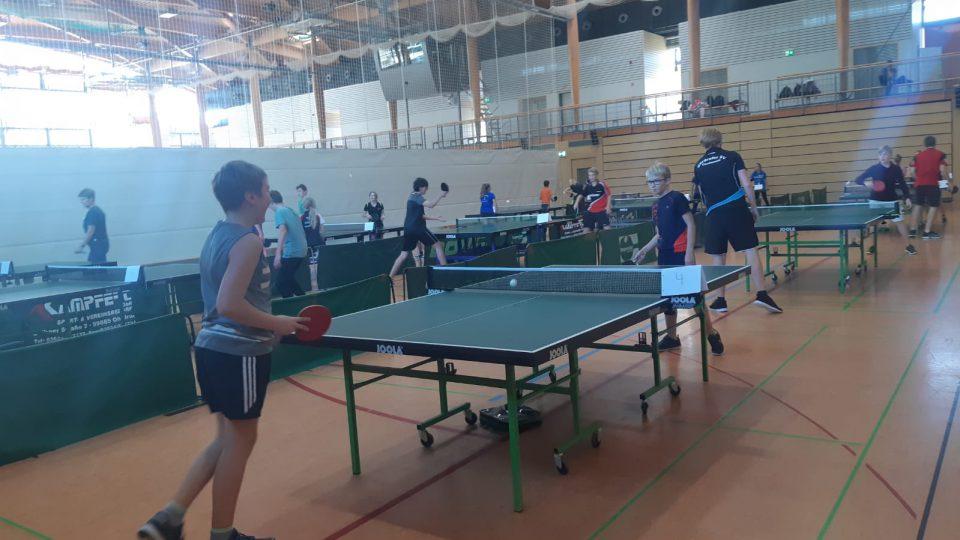 Tischtennisturnier des Gymnasiums Gleichense