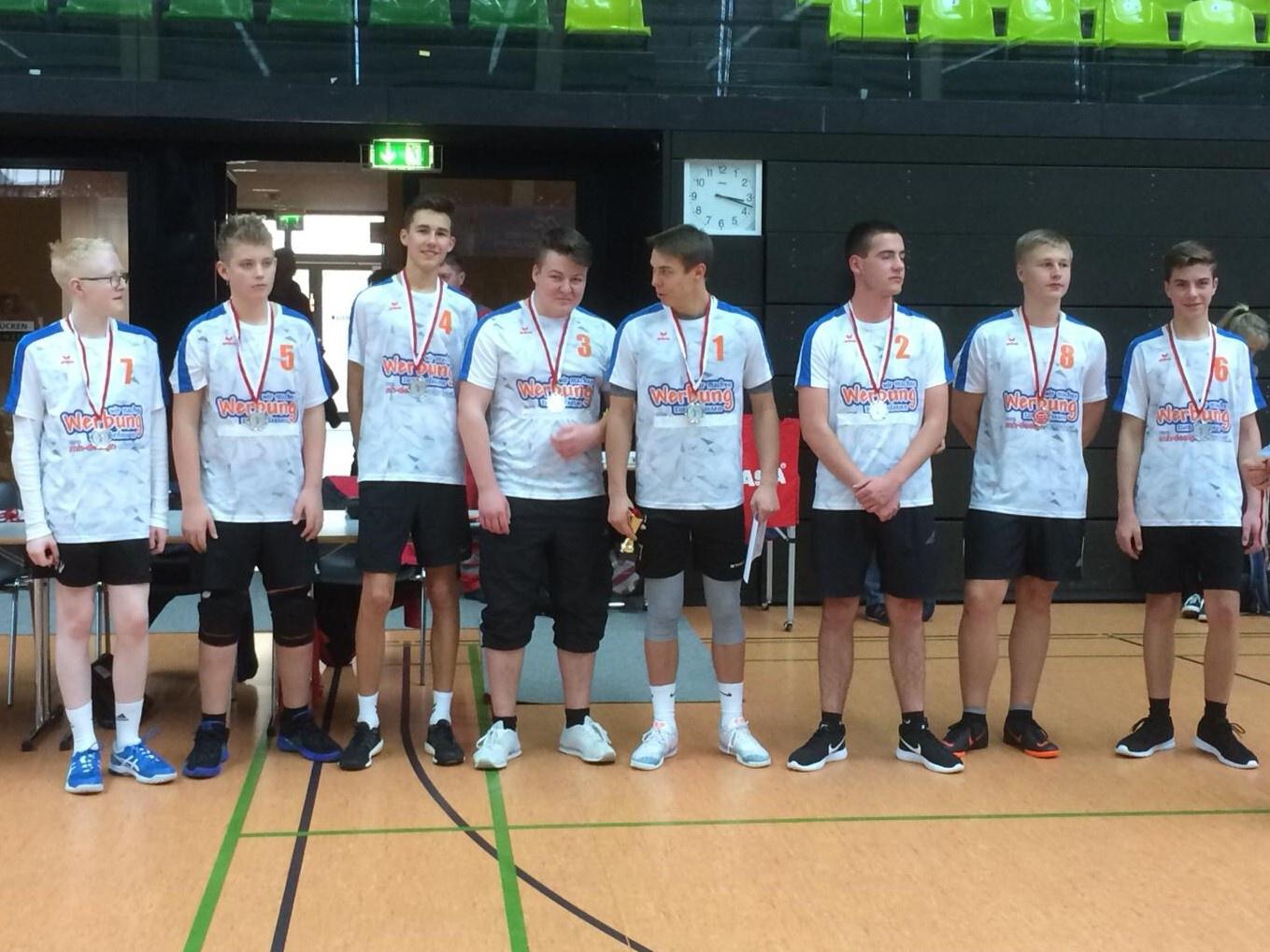 2. Platz im Landesfinale Volleyball der WK 2 am 26.02.2019 in Gera