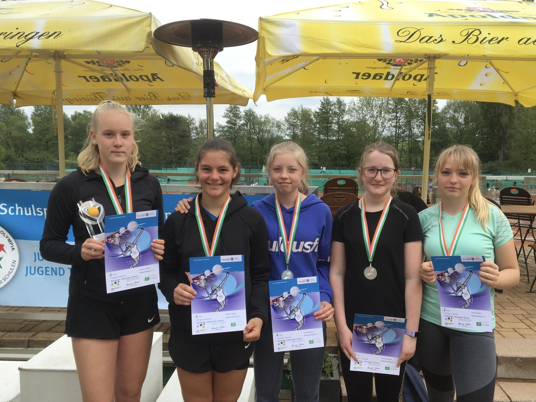 Landesfinale im Tennis der Mädchen WK III