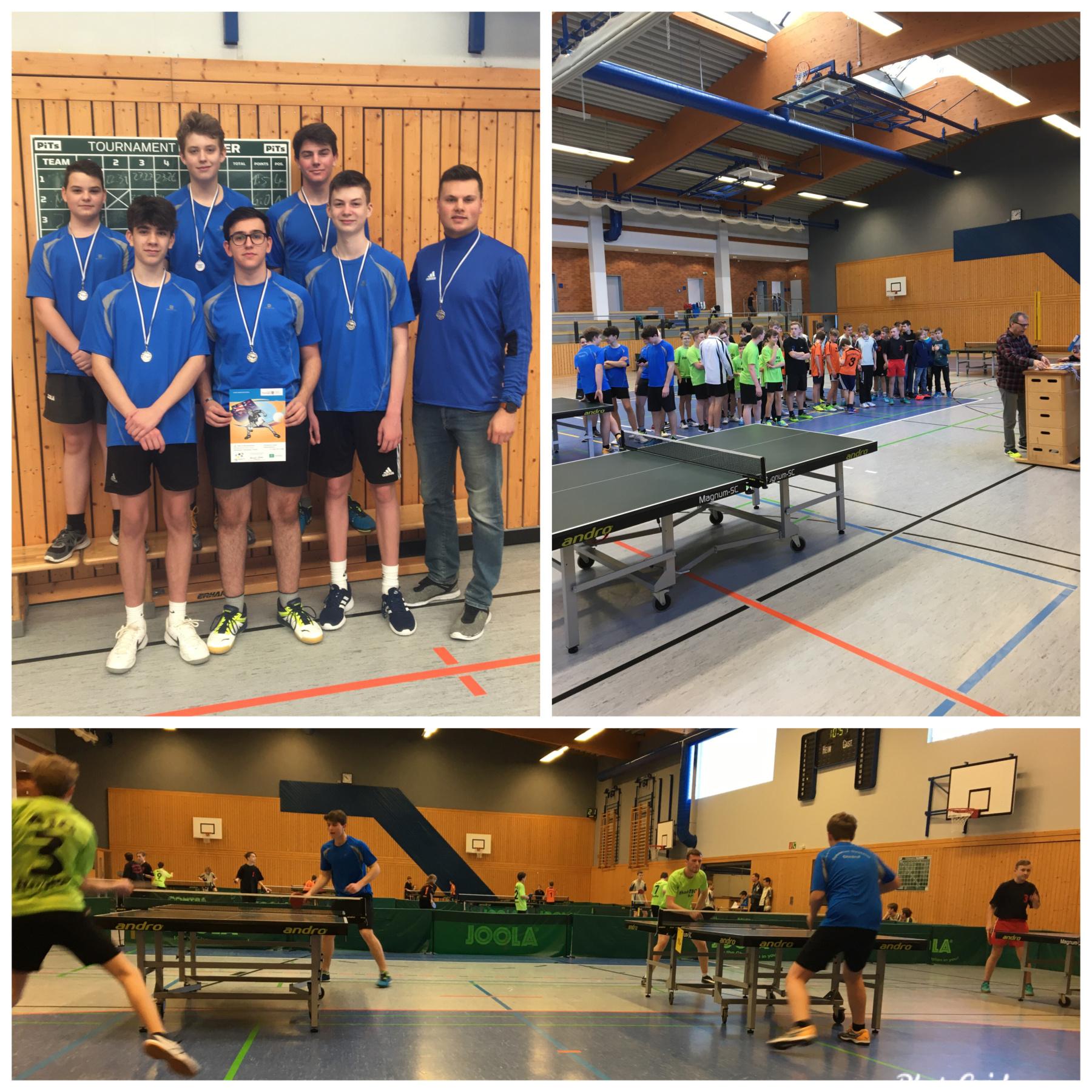 Platz 2 im Schulamtsfinale Tischtennis