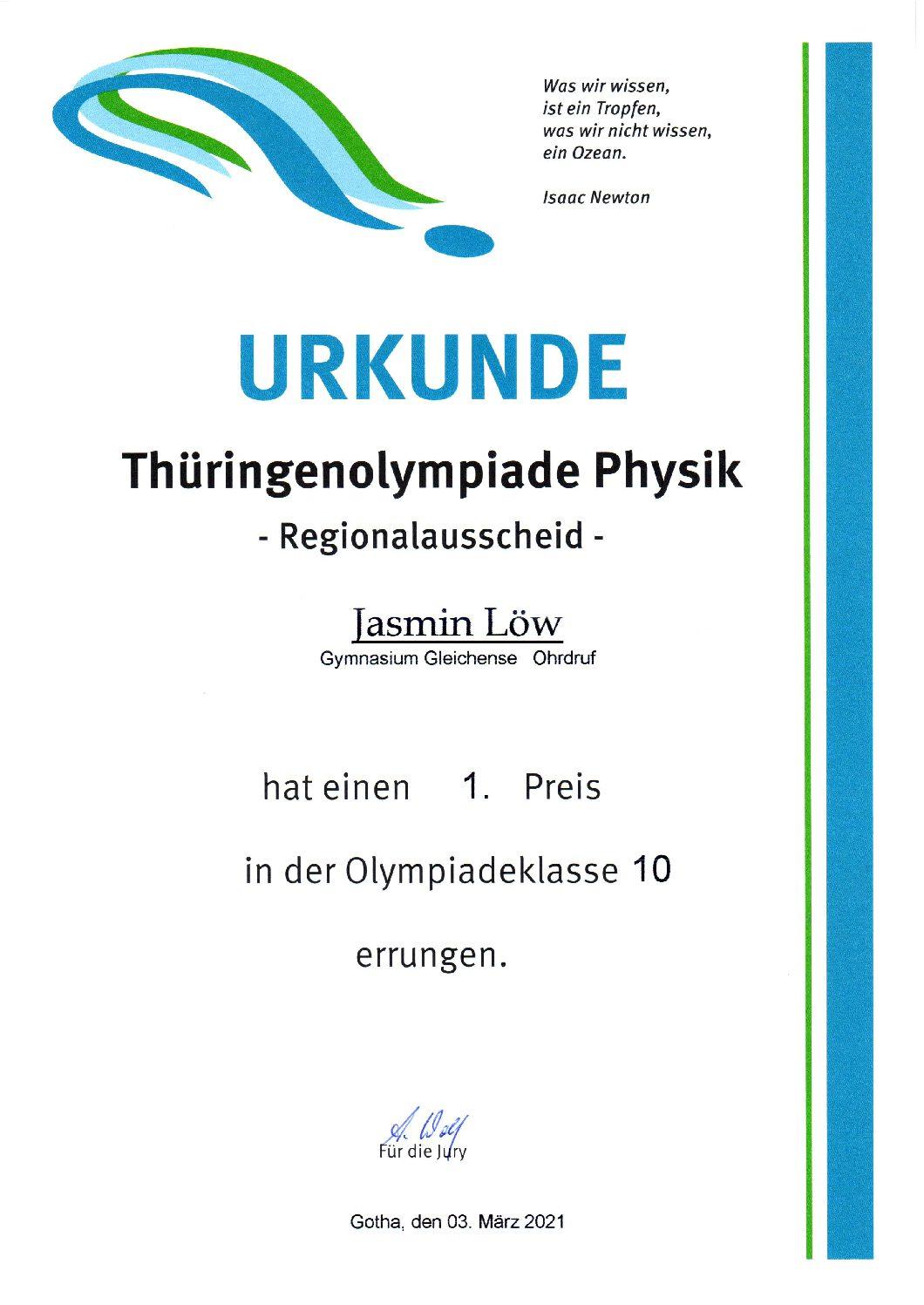 Spitzenergebnis bei Physikolympiade